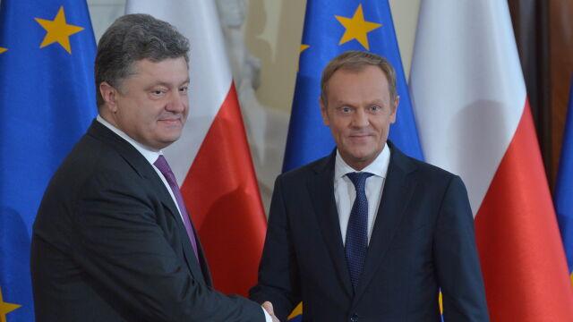 Tusk: 25 maja testem na wiarygodność sąsiadów Ukrainy. Poroszenko: Polska wzorem dla Ukrainy
