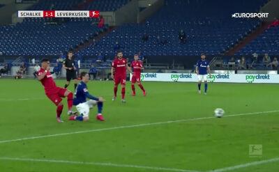 Skrót meczu Schalke - Bayer w 31. kolejce Bundesligi