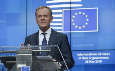 Konferencja prasowa Donalda Tuska po szczycie w Brukseli