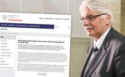 MSZ wystąpił do Komisji Weneckiej o opinię ws. ustawy o Trybunale
