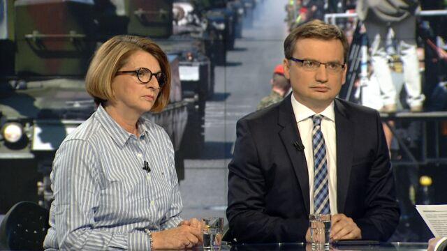 """Julia Pitera i Zbigniew Ziobro byli gośćmi """"Faktów po Faktach"""""""