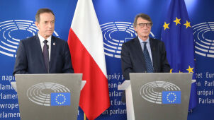 Senate Marshal Grodzki met with EP President Sassoli in Brussels