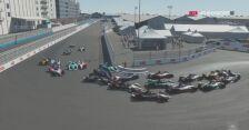 Ogromne zamieszanie po starcie 6. wyścigu Formula E Race at Home Challenge