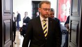 Minister Łukasz Szumowski przed spotkaniem z rezydentami