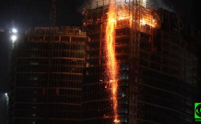 Płonie wieżowiec Warsaw Hub
