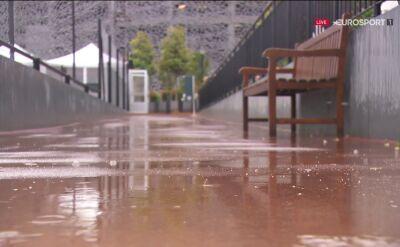 Deszcz storpedował rywalizację podczas 11. dnia Roland Garros