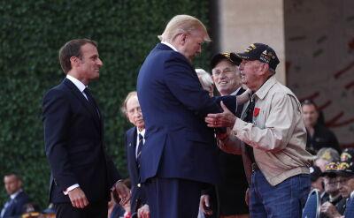 Donald Trump wziął udział w uroczystościach w Normandii