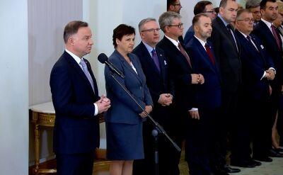 Rząd po rekonstrukcji. Całe przemówienie Andrzeja Dudy