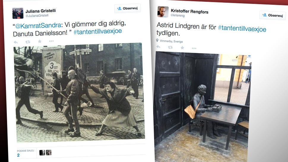 Zdzieliła torebką neonazistę. Władze nie chcą pomnika, Szwedzi się buntują