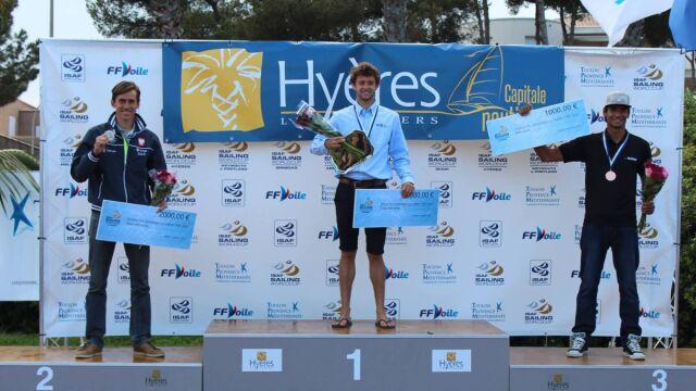 Piotr Myszka na podium w Pucharze Świata w Hyeres.