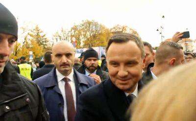 """Pytanie z tłumu o Macierewicza. Prezydent o """"ubeckich metodach"""""""