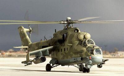 Rosyjskie śmigłowce Mi-24 i Mi-8