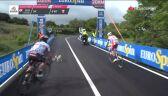 Niebezpieczna sytuacja na trasie 6. etapu Giro. Pies wbiegł na drogę