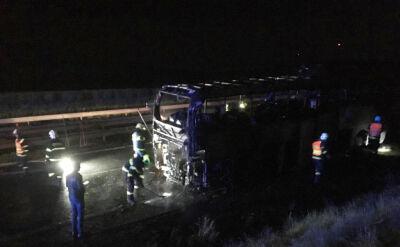 Pożar polskiego autokaru w Czechach