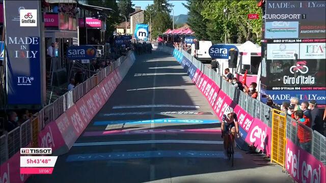 Nibali nadrobił 7 sekund nad liderem Giro d'Italia na 12. etapie