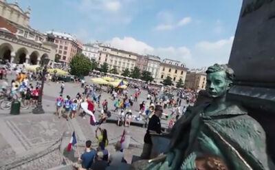Krakowski rynek z perspektywy pomnika Mickiewicza