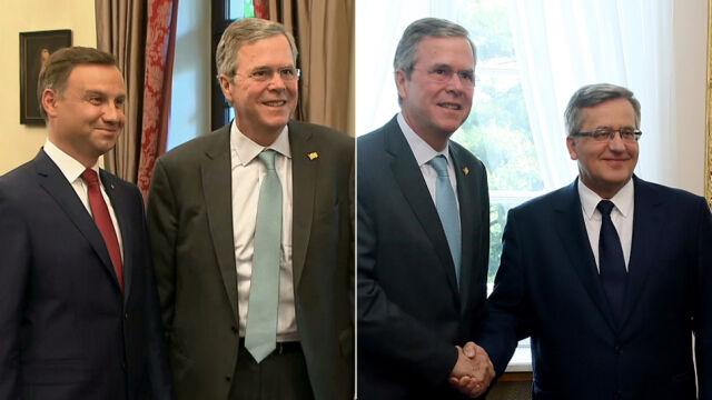 Jeb Bush z wizytą w Warszawie. Spotkał się z Komorowskim i Dudą