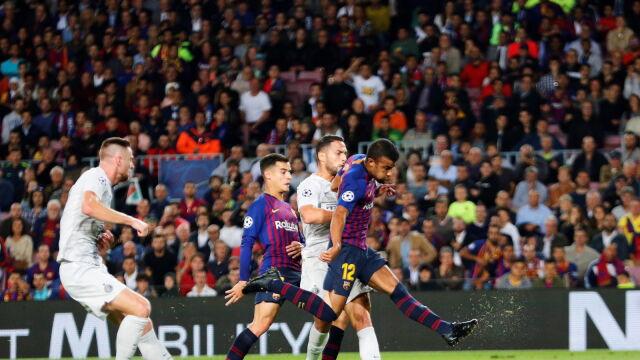 Barcelona ograła Inter. Messi podziwiał z trybun