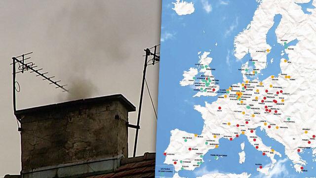 Największy smog w Europie: Kraków na podium, debiut Wrocławia, Warszawa w dziesiątce
