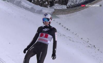 Skok Kamila Stocha z 2. serii konkursu w Bischofshofen