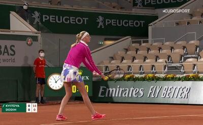 Skrót meczu Kvitova - Dodin w 1. rundzie Roland Garros
