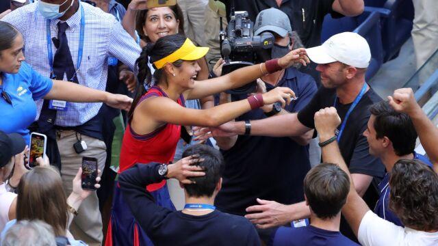 Królowa Elżbieta II zwróciła się do sensacyjnej mistrzyni US Open
