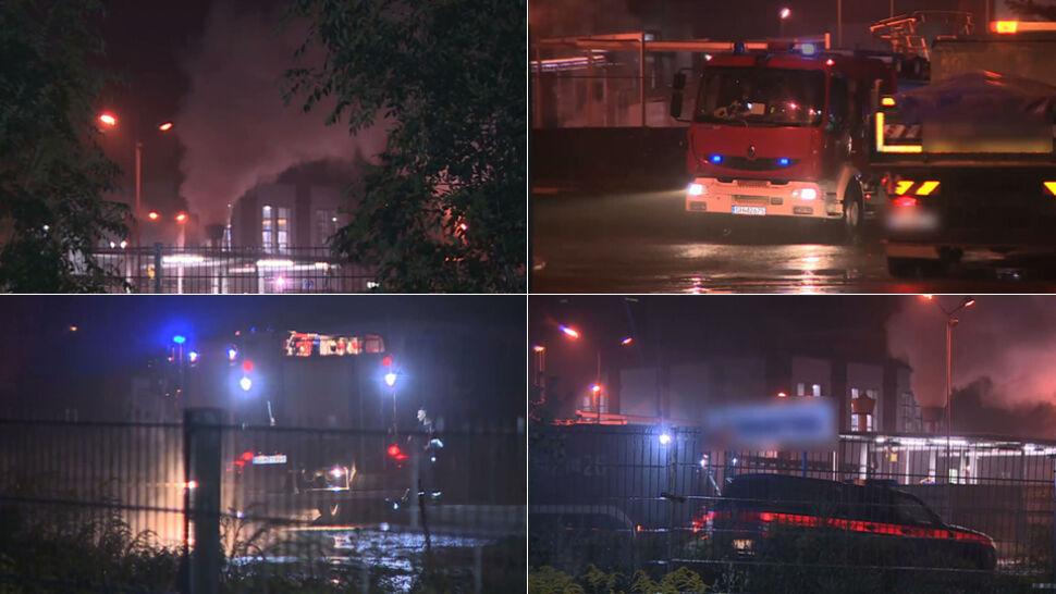 Pożar fosforu w Chorzowie.  Policja ostrzegła przed skażeniem