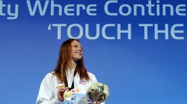 Symboliczny gest białoruskiej pływaczki. Protestuje wobec działań władz