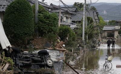 Zniszczenia po przejściu tajfunu Hagibis