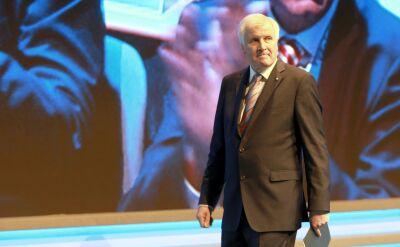Seehofer podczas konwencji CSU w Monachium