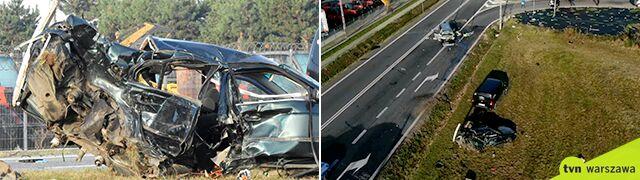 """Śmiertelny wypadek na krajowej """"50"""". Wypadł z drogi, potem dachował"""
