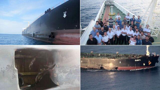 Iran pokazał zdjęcia uszkodzonego tankowca.