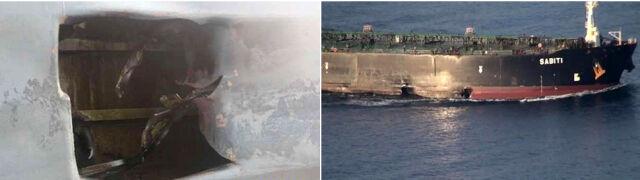 """Iran pokazał zdjęcia uszkodzonego tankowca. """"Co najmniej dwie rakiety"""""""