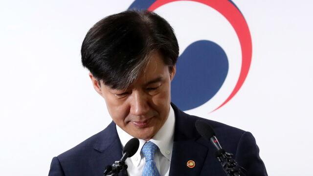 Rodzina podejrzana o korupcję. Koreański minister sprawiedliwości odchodzi