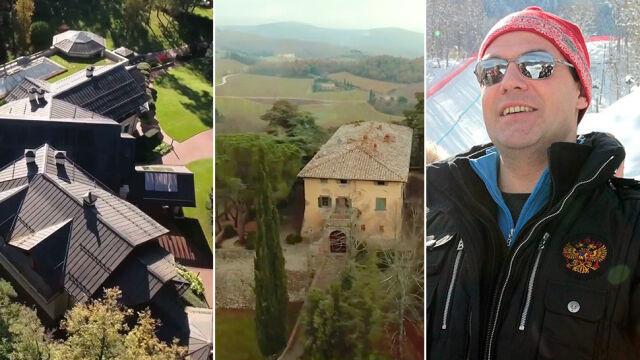 Rezydencje, jachty, wyciągi narciarskie, winnice w Toskanii.