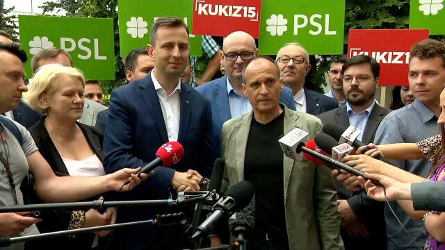 """""""Dziękuję ci Władysław"""", """"dzięki Pawle"""". PSL i Kukiz'15 do wyborów idą razem"""