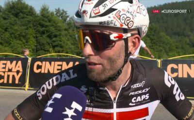 Tomasz Marczyński po 3. etapie Tour de Pologne