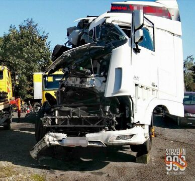 Ciężarówka, którą prowadził podejrzany o spowodowanie wypadku