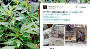 """Pierwsza reklama marihuany. """"Specjalnie kupiłam gazetę!"""""""