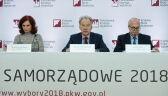 Wiesław Błuś z PKW przytacza meldunek KGP