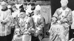 Uroczystości milenijne na Skałce. Widoczny m.in. główny celebrans metropolita krakowski ks. arcybiskup Karol Wojtyła - 1966-05-08