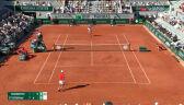 Djoković przełamał Tsitsipasa w 3. gemie 4. seta finału French Open