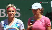 Świątek i Mattek-Sands po finale gry podwójnej we French Open