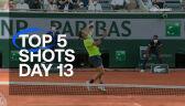 Najlepsze zagrania 13. dnia French Open