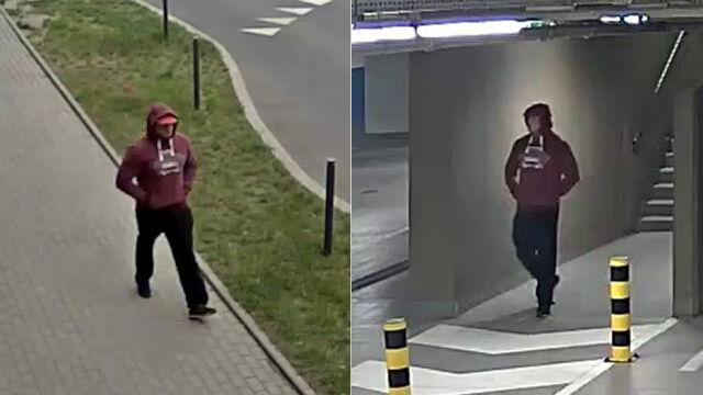 Policja szuka mężczyzny ze zdjęcia. Może coś wiedzieć o kradzieży maserati w Poznaniu