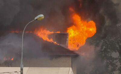 Pożar na terenie elektrowni pod Moskwą
