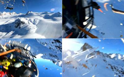 Policja pokazała nagranie ze zderzenia helikoptera i awionetki w Alpach