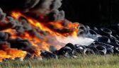 Strażacy walczyli we wtorek z pożarem hałdy zużytych opon