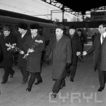 Delegacja z Charkowa na Dworcu Głównym  25.02.1974r.