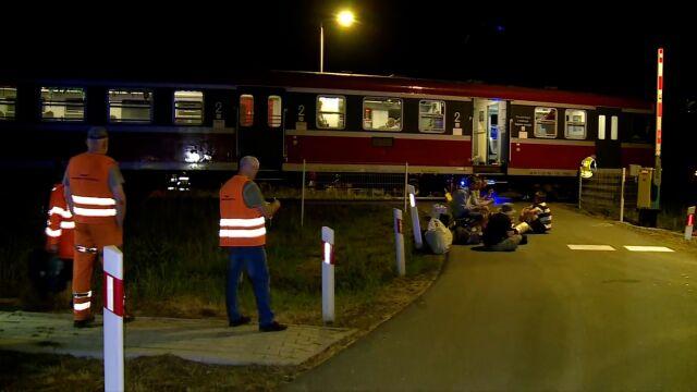 Rowerzysta wjechał pod pociąg. Zginął na miejscu